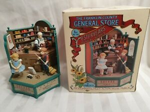 VINTAGE Enesco animated illuminated musical: The Franklin County General Store