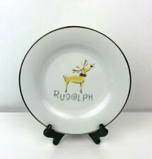 Pottery Barn Reindeer Collection Rudolph Salad Plate