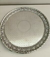 """Kirk coin silver 8 1/2"""" footed salver 1824-46 mark acanthus pattern"""