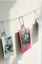 Urban Outfitters Photo Metal Clips Banner Silver Wall Display - NEW