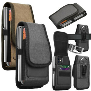 Cell Phone Holster Nylon Belt Clip Carrying Pouch Card Holder Wallet Case Cover