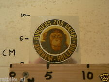 STICKER,DECAL BURGERS ZOO SAFARI ARNHEM HOLLAND MONKEY B