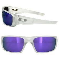 Oakley Crankshaft 9239-09 Sunglasses Matte Clear Frame Violet Iridium Lens 60 mm