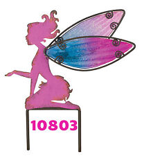Pink Fairy W / Hand Painted Wings - Garden Stake - Regal Art & Gift 10803