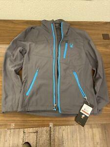 Spyder Ski Grey/Blue Mens Fresh Air Softshell Jacket Size XS