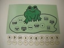 Math Frog Numeral & Number Word Game (1-10) Laminated 21 Pieces Brand New Cute!