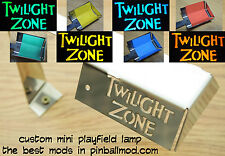 TWILIGHT ZONE PINBALL MOD - CUSTOM MINI PLAYFIELD LAMP - AVAILABLE READY TO SHIP