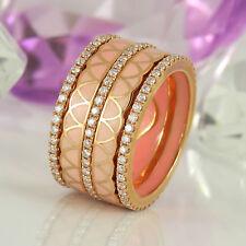 Ring in 750 Rotgold 18K Emaille mit 141 Diamanten 1,28ct TopWesselton vsi/si NEU