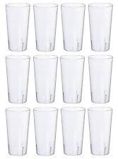 QG 16 oz Break Resistant Tritan Plastic Stackable Cups Tumblers Set of 12 Clear