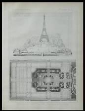 PARIS, EXPOSITION UNIVERSELLE 1889 - PLANCHE  1886 - TOUR EIFFEL, DUTERT
