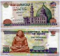 EGYPT 200 POUNDS 2007 - NOVEMBER P 68 UNC
