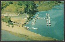 Birds Eye View Three Rivers Quebec Marina Chrome Postcard 1111