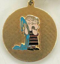 Vintage LINUS BLANKET Costume BRACELET  AVIVA Peanuts Enamel Snoopy CHARM