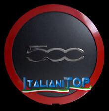 Fiat Coppetta 500 Coprimozzo cerchio in lega Bordo Cromato rosso 2007 cod. 1305
