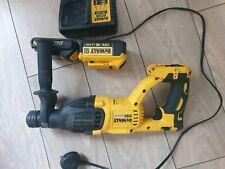 Dewalt DCH033 18V XR Brushless SDS+ Hammer Drill With Charger & 2 Batteries