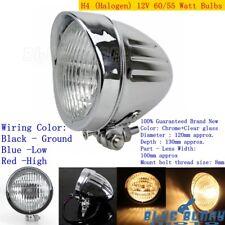 Chrome Visor Bullet Headlight Head Lamp Fairing For Harley Bobber Chopper Custom