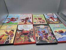 Lot of 8 Kids Sesame Street DVD's Elmos World Elmo in Grouchland Educational