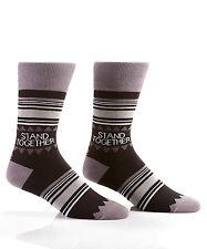 Yo Sox Stand Together Black Stripes Men's Crew Socks   Size 7-12