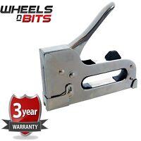 3 Way Heavy Duty Stapler Staple Gun Upholstery Wood Ceiling Repair + 800 staples