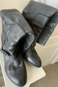 Sam Edelman Naharra Knee High Boots Women's Size 8M Pebbled Leather Grey