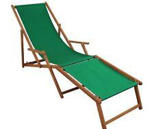 Sedia a Sdraio Verde Giardino Terrazza Solarium Ponte Legno da Spiaggia 10-304
