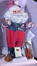 Motion-ettes of Christmas Santa Playing Violin NIB