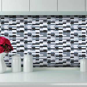 3D Brick Wall Tile Sticker Kitchen Bathroom Backsplash Peel Stick Contact Paper