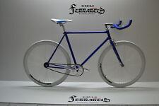 Fixed bike single speed bici scatto fisso bianco e blu personalizzabile