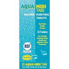 Aqua Clean Pestañas tabletas de purificación de agua potable 32 cada ficha purifica 25 L