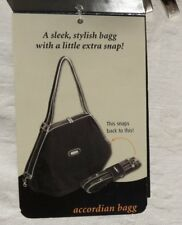 NEW BAGGALLINI Olive Green Packable Accordion Bag Travel Satchel Nylon Large