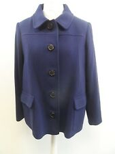 Pure Collection Pea Jacket Blue Ladies Size 10 Box4246 A