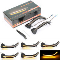 2x Dynamic Sequential LED Turn Signal Light Mirror Indicator For BMW 5 6 Smoked~