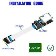 M.2 NGFF Key WiFi Wireless Adpater A/E/A+E to Mini PCI-E Adapter FPC Cable