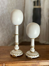 Vintage Miniature Dollhouse 1:12 Pair Gilt Wooden Counter Display Hat Stands
