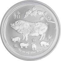 Australien 1 Dollar Schwein 2019 Jahr des Schweines 1 Oz Silber Stempelglanz