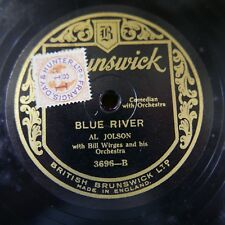 78rpm AL JOLSON blue river / mother of mine i still have you