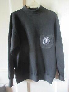 Men's Le Shark  Black Vintage Sweatshirt with roll neck size small S / M medium