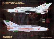 Hungarian Aero Decals 1/32 Hungarian MIKOYAN MiG-21 UM STENCIL SET