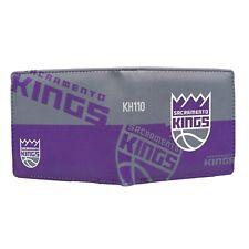 NBA Sacramento Kings Men's Printed Logo Leather BiFold Wallet