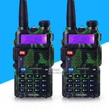 2 pcs UV-5R Camouflage 136-174/400-520 DTMF CTCSS 2 way radio 5R BAOFENG Talkie