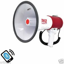 Bluetooth Megaphone with Bullhorn Professional Megaphone Pyle PMP52BT Red White