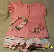Nice - Size 2T Little Girls Peach Colored SHORTS SET