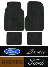 1978-1987 Ford Bronco Floor Mats - 4pc - Cutpile