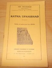 HINDOUISME LES UPANISHAD KATHA UPANISAD TRADUIT PAR LOUIS RENOU 1943