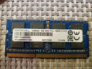 En Excellent Etat: Mémoire RAM 8Go SODIMM RAMAXEL 8GB 2Rx8 PC3L-12800S-11-13-F3