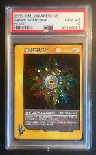 Pokemon Card PSA 10 VS Rainbow Energy Holo Gem Mint