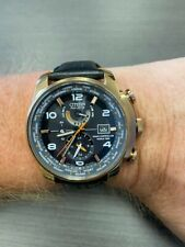 Citizen radio controlled World Time Atomic watch Eco Drive leather band