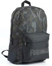 Fortnite Character Camo Llama All Over Print Black/Khaki Backpack Bag
