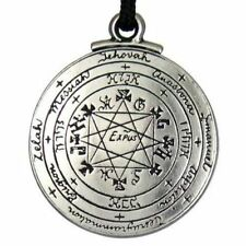 Talisman Protection Solomon Pentacle of Rabbi Seal Necklace Amulet Silver