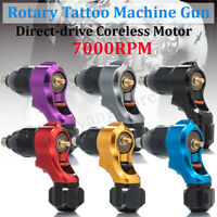 7000RPM Rotatif Pistolet de Tatouage Aluminium Entraînement Direct sans Noyau +A